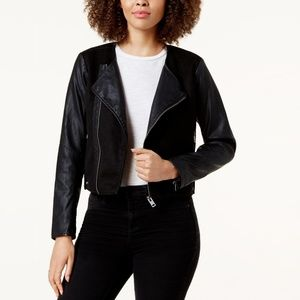 Lucky Brand | Contrast Faux Leather Moto Jacket XL